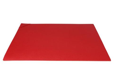 Saffiano icon sottomano da scrivania in pelle rosso pallotta